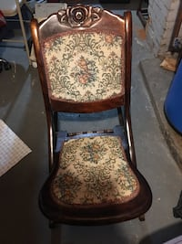 brown wooden framed brown floral padded armchair Norwood, 02062