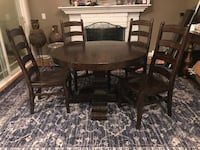 PotteryBarn Extending Pedestal Table and Chairs