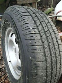 Set of like new Goodyear truck tires and rims Salem, 26426