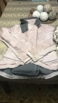 white and gray zip-up jacket Edmonton, T6R 0L4