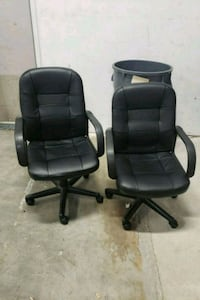 two black leather office rolling armchairs Annapolis, 21401