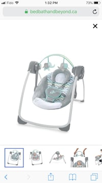 baby's gray and white portable swing 505 km