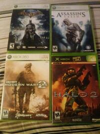 four Xbox 360 game cases Westminster, 92683