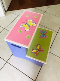 Buttery fly step stool pink, green and purple   Kirkland, H9J 3Z8