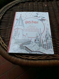 Harry Potter magical places and characters colouring book like new
