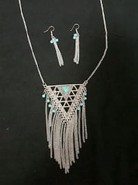 Turquoise and silver set 1219 mi