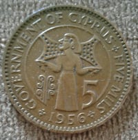 156 round copper-colored coin