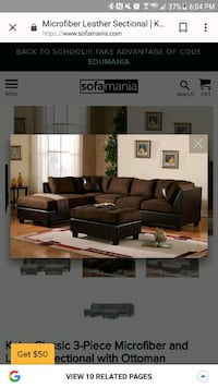 brown leather sectional sofa  Columbus, 31909