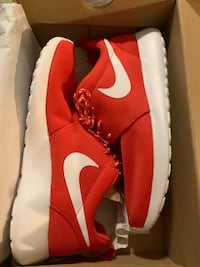 Roshe one red and white shoes  Toronto, M4X 1W9