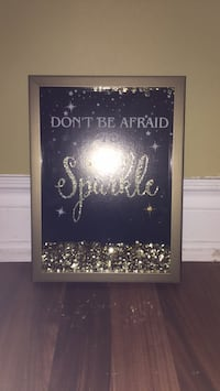 Gold don't be afraid to sparkle picture frame Innisfil, L9S