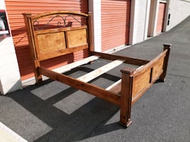 Large Nice All Solid Wood California king Bed Frame