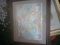brown wooden framed painting of white and blue flower Latrobe, 15650