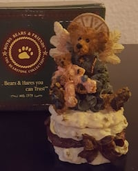 brown bear ceramic figure
