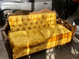 Old Fashion Brown Couch