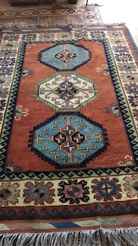 brown, blue, and white area rug Londra, W10 5XU