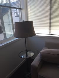 Pottery barn lamp + side table