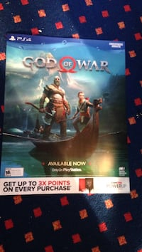 God of war unused sales poster Selkirk, 12158