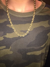 18k gold plated rope chain Brampton, L6S 3B8