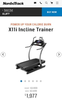 NordicTrack X11i Incline Trainer. Retails for $2,499
