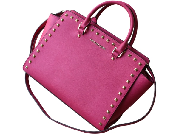 0558f9bd6b13 Used MICHAEL KORS Michael Kors Selma Large Studded Leather Satchel Hot Pink  for sale in MANCHESTER