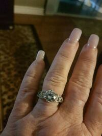 Crystal engagement ring.  Whitby, L1N 8X2
