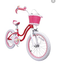 toddler's pink and white bicycle Paoli, 19301