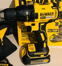DEWALT 20-Volt MAX Lithium-Ion Cordless Brushless Compact 1/2 in. Drill Driver with (2) Batteries Charger and Tool Bag  New York, 11356