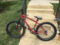 Red and black hardtail mountain bike.  $185 bike.  The brakes need tightening and a few gears are a little rough.  Think $50 is more than fair if interested  Fairfax, 22033
