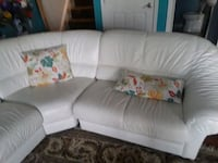 white leather 3-seat sofa Frederick, 21703
