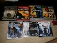 six assorted PS3 game cases Waterloo, N2J 1H1