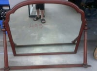 brown wooden framed wall mirror Houston, 77065