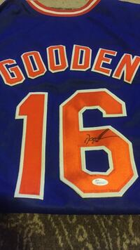 Mets Gooden Signed Jersey