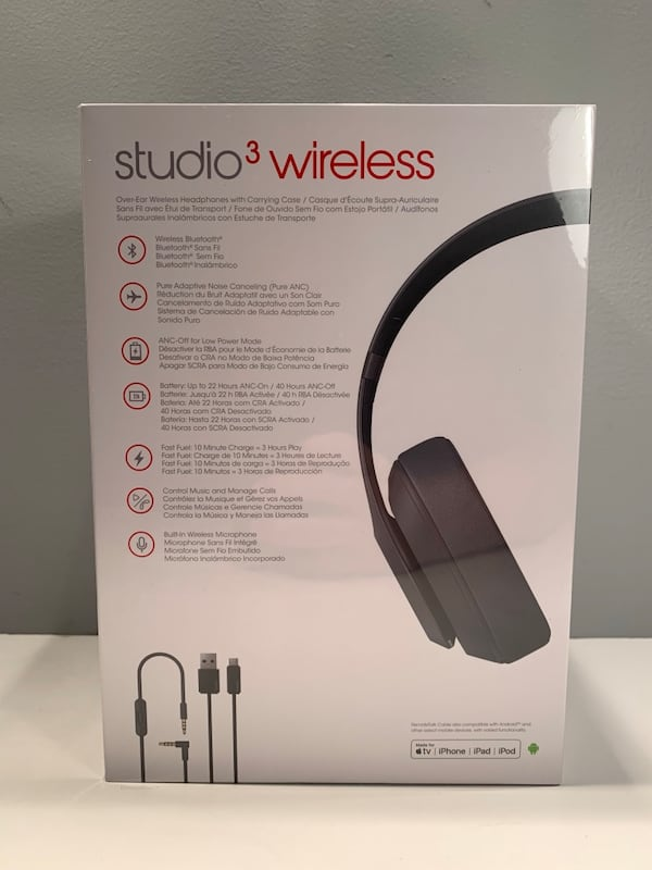 Brand new sealed Beats studio 3 wireless Bluetooth over the ear headphones   2