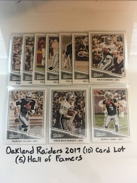 Oakland Raiders 2017 (11) Card Panini Classics Team Set  San Jose, 95148