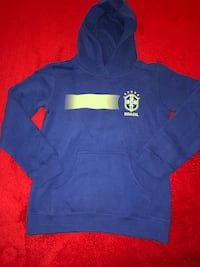 New Boys size medium Brasil soccer hoodie ~ really soft material~