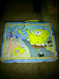 Metal SpongeBob lunch box