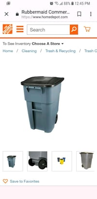 Black and gray Rubbermaid trash can Racine, 53402