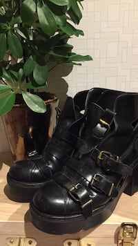ACNE black chunky boots