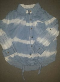 Front Tie Button Up Longsleeve