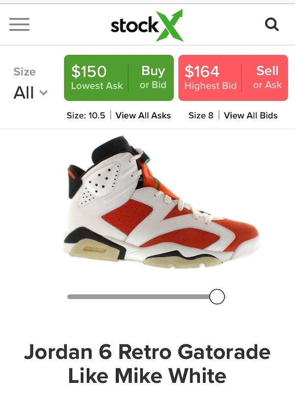 10fd7c685d58 Used unpaired white and red Air Jordan basketball shoe screenshot for sale  in Redwood City