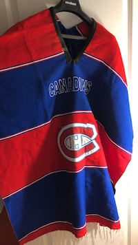 red, blue, and white Montreal Canadiens jersey