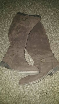 Just Fab Brown Boots. Size 11. Wide Calf.  Tenino, 98589