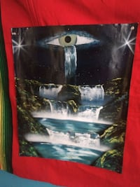 Handmade Crying Eye Poster New Orleans