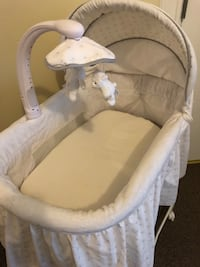 baby's white and gray cradle and swing Stamford, 06902