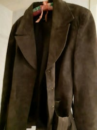 brown and black button-up coat St. Catharines, L2M 4G1