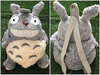two grey-and-white animal character themed backpack photo collage Calgary, T3A 2S1