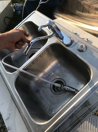 stainless steel sink with faucet Akron, 44306