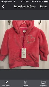 NWT Jack and Jill Fleece Jacket Size 6-12 month  Mississauga, L5W