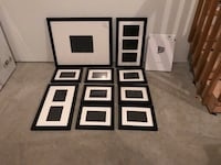 """Picturewall company 1"""" black frames with multiple layout options"""