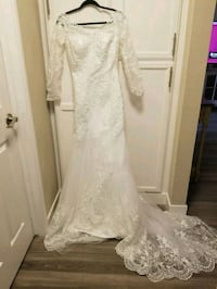 Hebeos Long Sleeve White Lace Wedding Dress Castro Valley, 94546